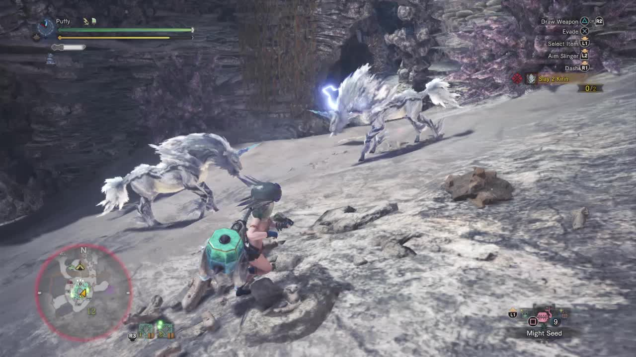 hammer, kirin, mhw, monster hunter world, wiggler, Wiggly Kirin Goes Boom GIFs