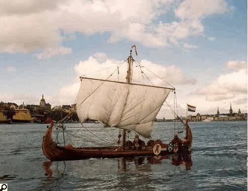Watch and share Viking Ship Orm, A Replica Of The Osebergship, Built By Henri Houben GIFs on Gfycat