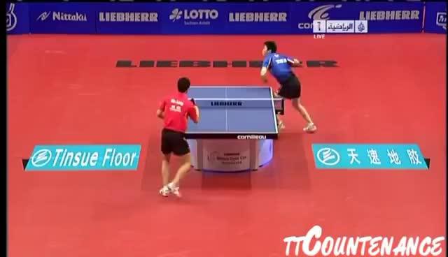 Watch and share World Team Cup: Ma Long-Ryu Seung Min GIFs on Gfycat
