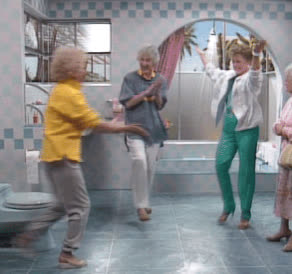 awesome, golden girls, high five, yay, yes, Golden Girls High Five GIFs