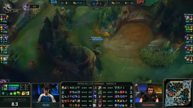 Watch and share GIA (Ruin Gangplank) VS SPY (Odoamne Camille) Highlights - 2018 EULCS Spring W5D1 GIFs on Gfycat