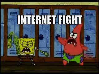 Watch and share Internet Fight Spongebob GIFs on Gfycat