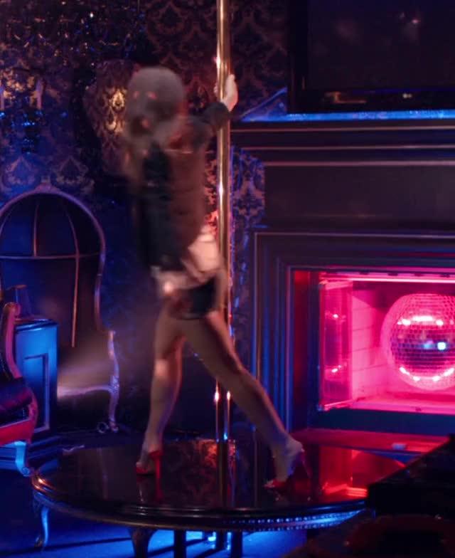 emma Watson on a stripper pole