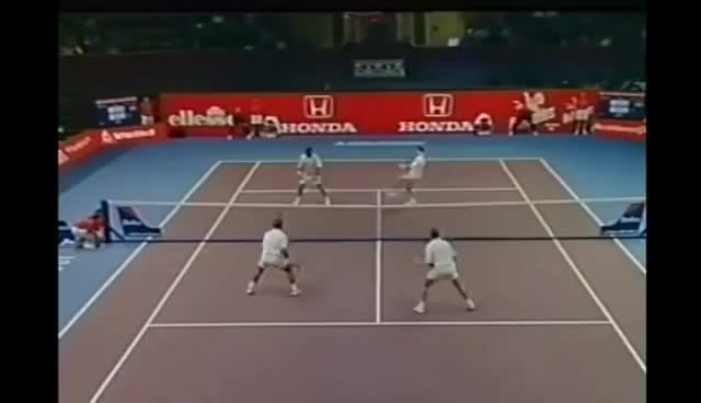 Watch and share Tennis' Greatest Entertainer - MANSOUR BAHRAMI GIFs on Gfycat