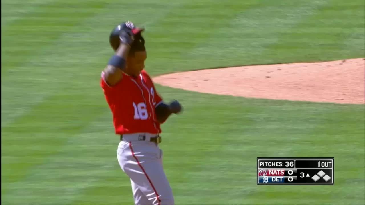 nationals, washington nationals, victor robles tipping his cap GIFs