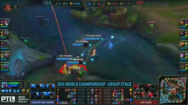 Watch and share [Worlds 2015] KOO Smeb $2 CLG GIFs by ITCC on Gfycat