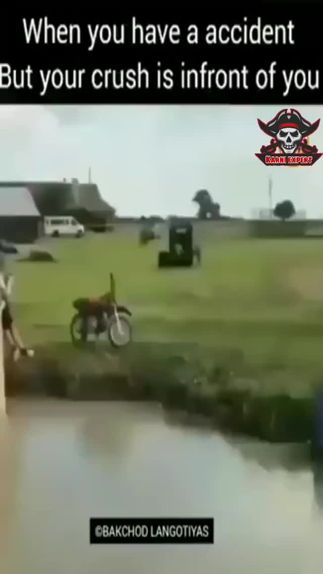 When you crash but crush is infront of you