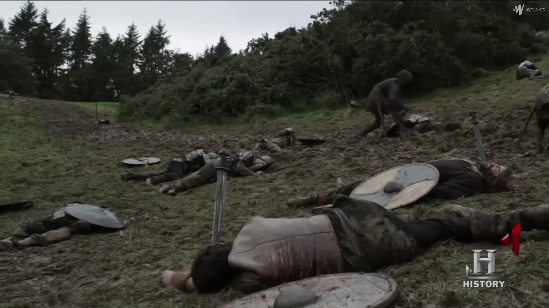 Battle, Danes, Denmark, England, King Aella, Norse, Northmen, Northumbria, Saxons, War, King Aella Attacks The Vikings Camp Despite Their Deal - THE VIKINGS SEASON 1 GIFs