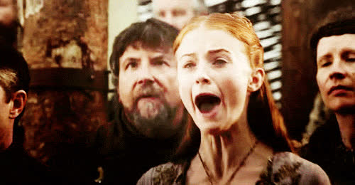 sansa stark, scream, This is a Sansa Stark/Flawless Ginger Princess post. GIFs