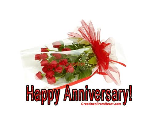 Watch and share Happy Anniversary Gifs Animated | HappyAnniversary animated stickers on Gfycat