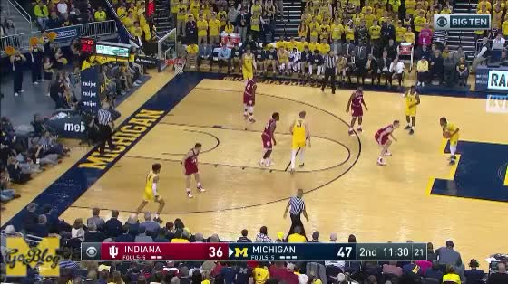 Watch Poole First Step GIF by MGoBlog (@mgoblog) on Gfycat. Discover more 2017-18, Basketball, Indiana, Jordan Poole, Michigan GIFs on Gfycat
