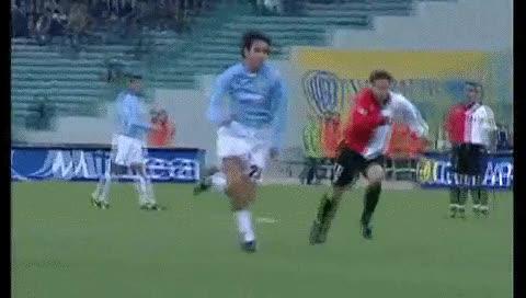 Watch and share Hernan Crespo. Lazio - Fiorentina. 09.12.2001 GIFs by fatalali on Gfycat