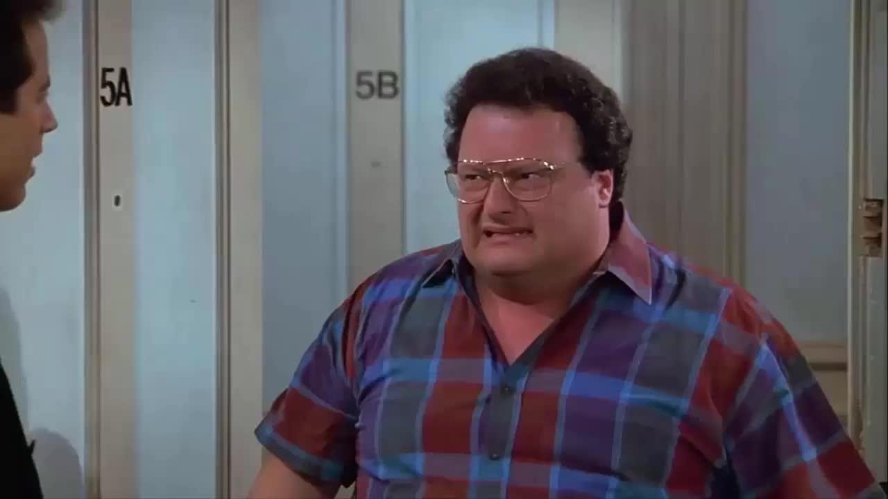 jerry seinfeld, newman, seinfeld, wayne knight, Newman Warns Jerry Seinfeld GIFs