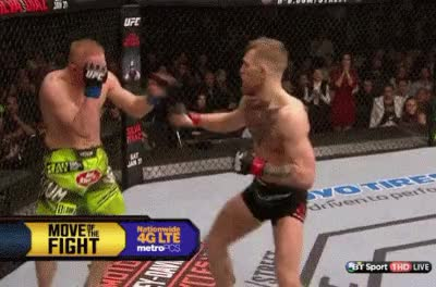 Watch Conor McGregor Knockdowns Dennis Siver Fight Night Boston GIF on Gfycat. Discover more related GIFs on Gfycat