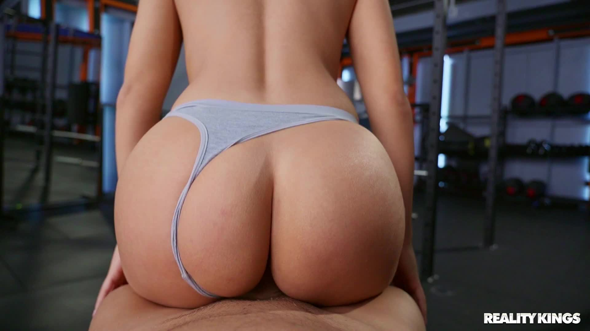 Bianka Booty riding cock with panties aside