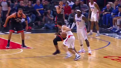 121118, Miloš Teodosić and Tyrone Wallace — Los Angeles Clippers GIFs