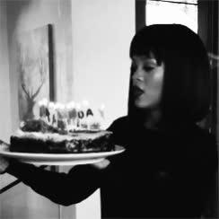 birthday, birthday cake, birthday candles, happy birthday, rihanna, Rihanna Blowing Out Birthday Candles GIFs