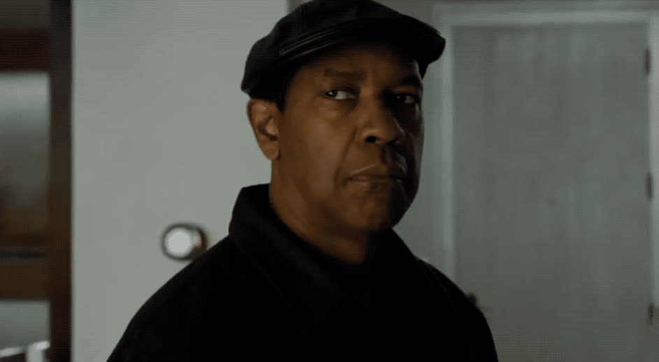 angry, at, denzel, equalizer, eye, fight, frozen, hat, look, mad, me, off, pissed, ready, serious, stand, the, wait, waiting, whashington, The Equalizer 2 GIFs