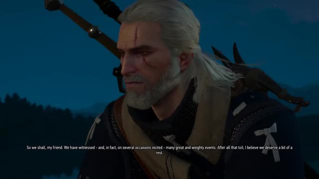 Watch and share Geralt Just Cast Aard At The Fourth Wall. GIFs by mrbubbless on Gfycat
