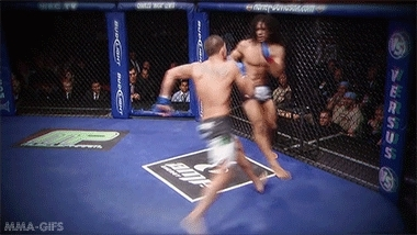 GIF, anthony pettis, fight, martial arts, mixed martial arts, mma, showtime kick, sports, wec, world extreme cagefighting, WEC 53: Anthony Pettis vs. Benson Henderson GIFs