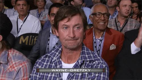 Watch and share Wayne-gretzky-looks-toasted GIFs on Gfycat