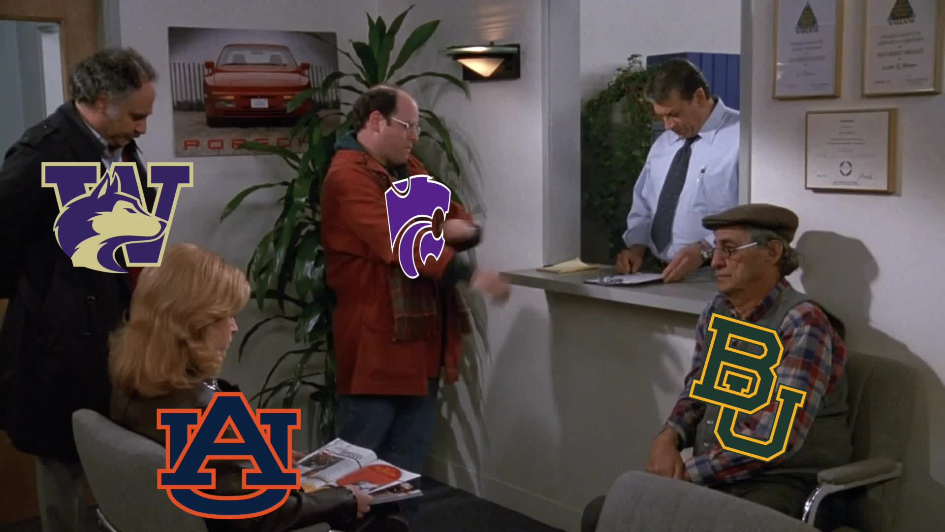 College Basketball, K-State, Seinfeld, celebs, jason alexander, George Has Beef With the New AP Poll GIFs