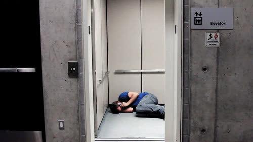 Corey Vidal, CoreyVidal, cry, crying, elevator, floor, funny, sad, Crying GIFs