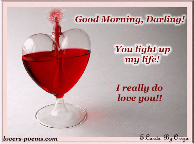 Good Morning Darling You Light Up My Life Morning Gif Good
