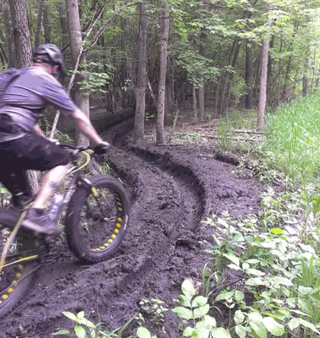 Watch and share Riding Moonlander Fat Bike In Mud GIFs on Gfycat