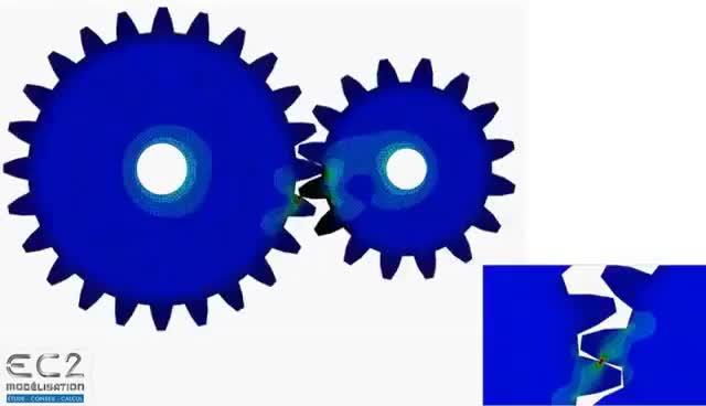 Watch 17 exemples de simulations numériques par éléments finis (Abaqus) GIF on Gfycat. Discover more related GIFs on Gfycat