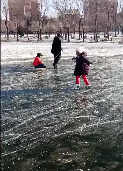 Watch and share Little Girl Showing Off Her Ice Skating Skills GIFs by tothetenthpower on Gfycat