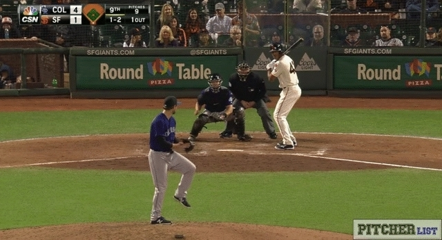 baseball, coloradorockies, [GIF] Adam Ottavino's Crazy Good Slider (more pitches in comments) (reddit) GIFs