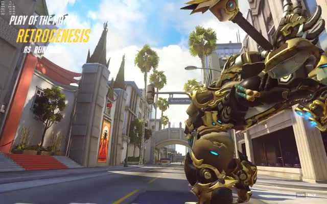 Watch and share Overwatch GIFs and Reinhardt GIFs by retrogenesis on Gfycat