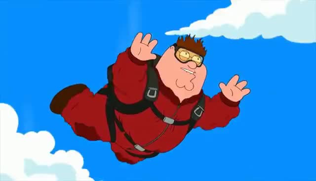 Family Guy-Peter's Skydiving Accident GIFs