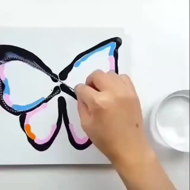 Watch and share Butterfly GIFs and Painting GIFs by MyNameGifOreilly on Gfycat
