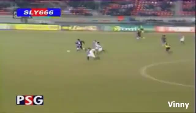 Watch and share Ronaldinho - The Beginning In Europe - Paris Saint-Germain GIFs on Gfycat