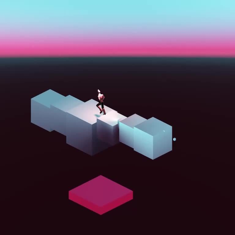 Endless Isometric Runner GIFs