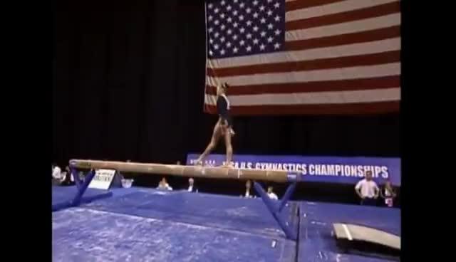 Courtney McCool, gymnastics, Courtney McCool 2004 Nationals GIFs