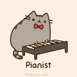 Watch and share Kawaii Cat Playing Piano. GIFs on Gfycat