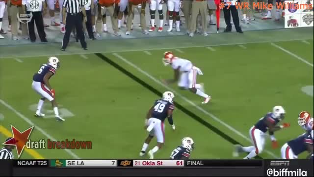 Watch and share Mike Williams (Clemson) Vs. Auburn (2016)(back Shoulder) GIFs by Sean McKaveney on Gfycat