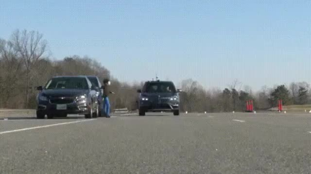 Dash Cam, BMW. Safety test GIFs