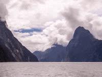 calm, peaceful, ocean, sea, mountains GIFs