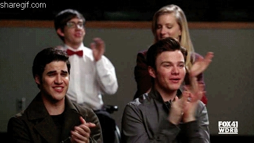 Darren Criss, applause, clap, clapping, respect, slow clap, Applause GIFs