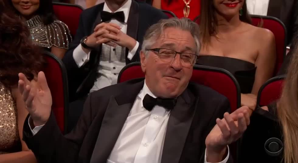 emmys, emmys 2017, emmys2017, robert de niro, Robert De Niro Reaction Emmys GIFs
