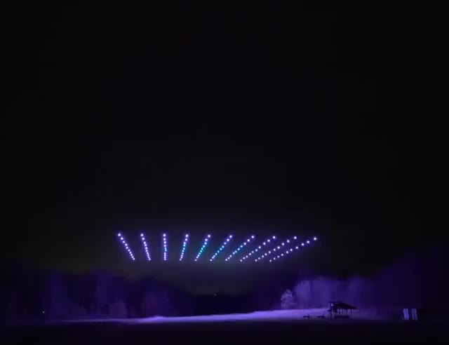 Watch and share 100 Drones Giving Off A Light Show GIFs by ilvvsion on Gfycat