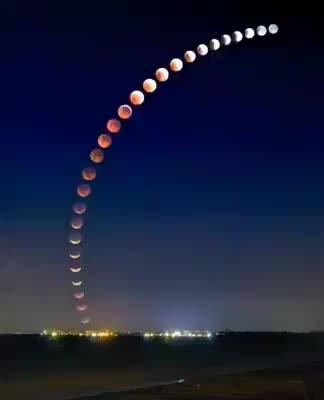 eclipse, lunar eclipse in motion., moon, Lunar Eclipse in motion. GIFs
