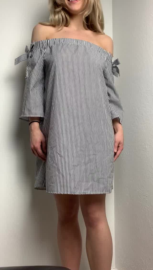 revealing what's below my summer dress!