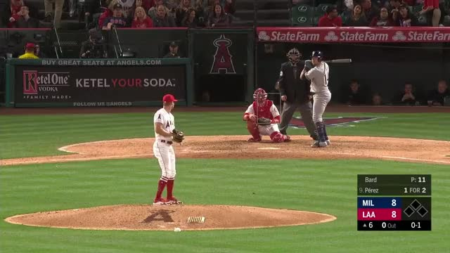 Watch and share Los Angeles Angels GIFs and Milwaukee Brewers GIFs on Gfycat