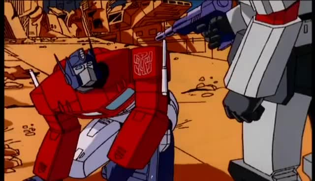 Watch Optimus Prime vs Megatron HD Transformers The Movie 1986 GIF on Gfycat. Discover more autobot, megatron, transformers GIFs on Gfycat