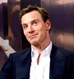 Watch and share Michael Fassbender GIFs and Smiling GIFs on Gfycat